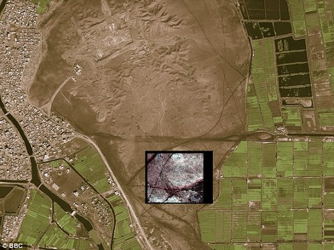 Hidden history This image of Tanis shows the difference between what the naked eye can see and the underground details that the high-powered satellite camera can pick up.jpg